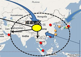 国际层面:中国中西部成为全球产业转移新热点